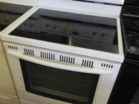 Its here Maytag 2 YR. Old White Glass Top 5 Burner