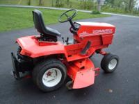 I am looking for a small garden tractor with front end
