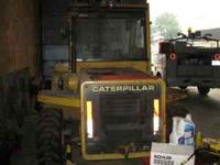 1994 caterpillar r 80 diesel rough terrain forklift