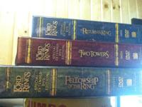 These are the DVD box sets for Lord of the Rings, all