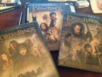 All three of the Lord of the Rings movies on Widescreen