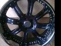 I have two 22 in Lorenzo rims for sale very clean.200$