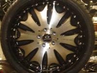 LORENZO WL029 GLOSSY BLACK/MACHINED WHEELS (ZEKE'S
