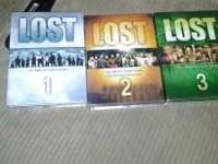 I have seasons 1-3 of lost in perfect condition only