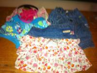 Girl clothing sizes 12 months approximately 2T. Shoes