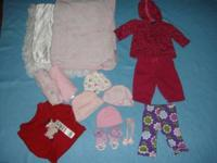 LOT OF 14 ITEMS BABY GIRL SZ 0/3MONTHS IN GREAT