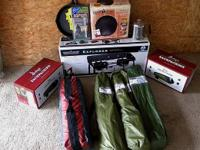 Lot of brand name brand-new outdoor camping devices.