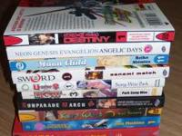 Hello, For Sale is a lot of 9 different manga Volumes,