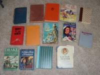 Hi, For Sale is a lot of vintage hardback books, The