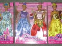 of 12 new-in-box Fairy tale Princess dolls (2 in each