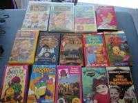 Lot of 12 kids VHS movies all working and in good