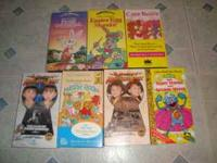 I have a lot of 13 children's VHS tapes to sell. They