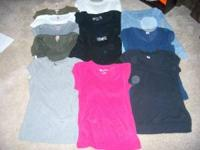 I am selling a lot of 13 gently used juniors shirts.