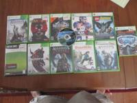 We have a lot of 13 XBOX 360 Games for sale.  All are