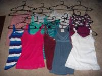 I have a lot of 14 gently used juniors tank tops from
