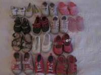 Baby girl shoes top row - Size 1-2 middle row Size 3