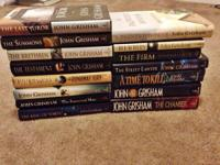 Lot of 15 hardcover John Grisham books. Some of the