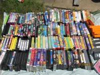 LARGE ASSORTMENT OF VHS MOVIES - ALL ORIGINALS - NO