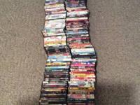 Lot of 160 DVDs for 100 must pick up!  Email with