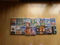 I have 19 VHS movies ~ mostly Disney movies. The movies