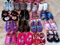 Lot of 21 pair of Toddler girl shoes: Stride Rite