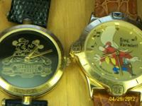 For sale, 22 watches total, 7 are Licensed Disney, one
