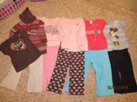 Girls lot of size 24 month- 2T clothes 5 complete