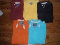 3 Men's Duckhead polo shirts short sleeve. Size Large,