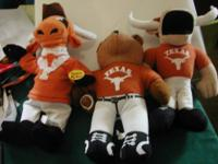 Here is a lot of 3 Texas Longhorn Gently Used Stuffed