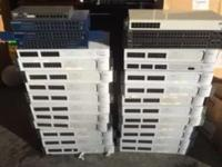UP FOR SALE IS A LOT OF 30 EHERNET SWITCHES. ALL ARE