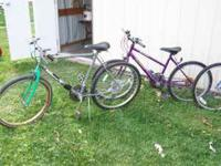 4 bicycles $20.00 each. One has new tires and tubes not
