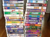 40 FAMILY/CHILDRENS VIDEOS - VHS FROM DISNEY: SLEEPING