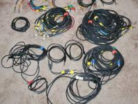 Lot of 48 Miscellaneous Patch Cables $100.00/lot of 48