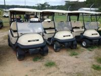 5 golf carts 2006 Club Car gas powered 2 passenger golf