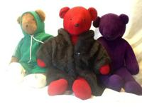 Lot of 5 bears from the North American Bear Co, 20""