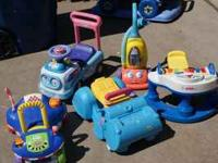 We have 5 toys for young children. 3 of them are push