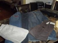 UP FOR SALE IS A LOT OF 6 NAME BRAND JEANS IN GREAT