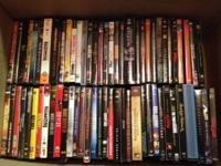 Box of 62 movies (DVD) $120 or $3 each. Email only