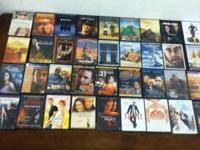 Lot of 68 movies in great condition for only 50 dollars