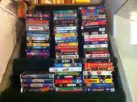 Over seventy working VHS films. All genres including