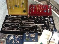 Lot of 72 pieces of Sterling silver jewelry. I also