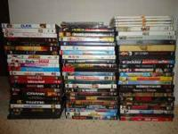 75 dvds.$70.Feel free to call email or text with any