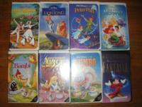 HERE IS A LOT OF 8 CLASSIC DISNEY VHS TAPES ALL IN