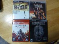 Offering 8 PS3 Games, all are in terrific condition.