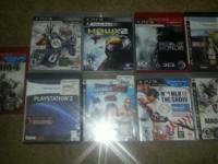 lot of 9 ps3 games, must take all. 35.00   All in good