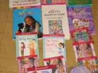 Lot of American girl doll accessories Dvds books