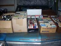 Make an offer! Large collection of 8 track tapes, some