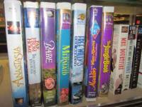 Children's Videos Anastasia, Babe, Free Willy,
