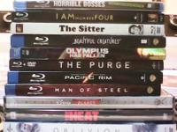 Lot of 11 DVD/ blueray movies new in package. I am