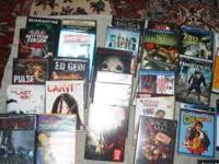 Hi, I have 36 DVD's for sale 2.00 each or 3 for 5.00 If